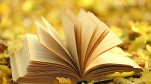 stock-footage-book-s-page-turning-by-wind-on-a-background-of-yellow-fallen-leaves